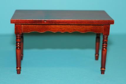 Tisch viereckig, Mahagoni, 1:12