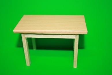 Arbeitstisch Holz, Arbeitsplatte Holz/Kunststoff, hell