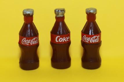 Cola-Flaschen klein, Kunststoff - 3 Stück