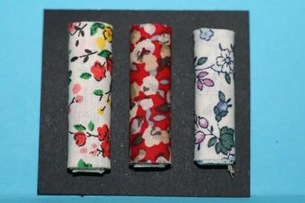Stoffballen Blumenmuster groß - 3 Stück, 1:12