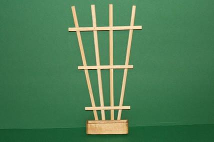 Rankengitter, Holz, mit Pflanzkasten