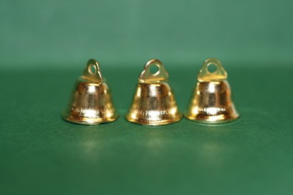 Glöckchen goldfarben - 3 Stück, 1:12