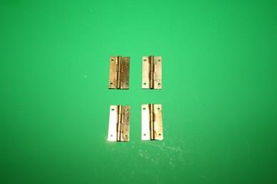 Scharniere goldfarben, Metall - 4 Stück