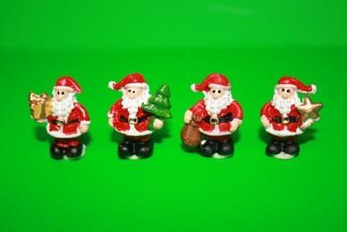 Weihnachtsmänner-Set, Polyresin - 4 Stück