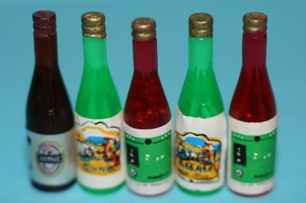 Weinflaschen - 5 Stück