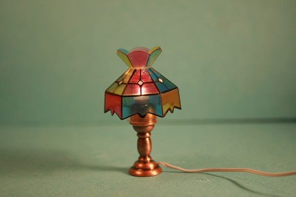 "Tischlampe ""Tiffaniy"", bunt, 1:12"