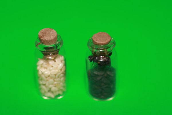 Miniatur Gewürzgläser beige/braun 1:12
