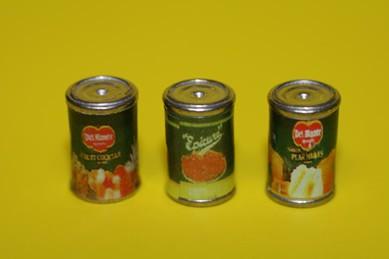 Obstkonserven, Metall - 3 Stück
