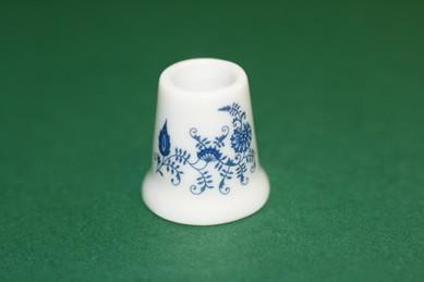 Vase weiß/blau, Porzellan