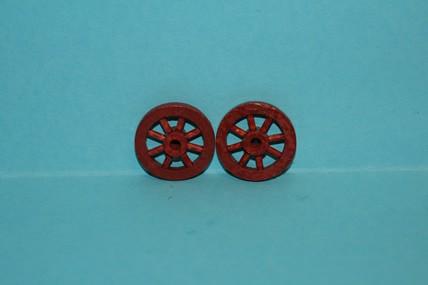 Speichen-Holzrad rot-braun - 2 Stück, 1:12