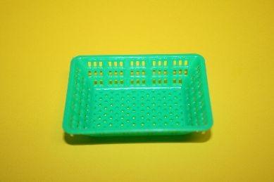 Plastik-Korb, eckig, grün