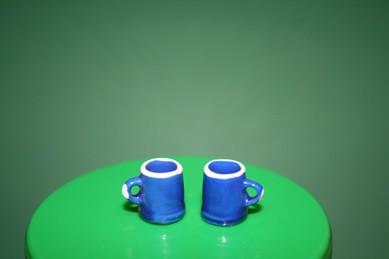 Kaffeebecher, Porzellan dunkelblau - 2 Stück