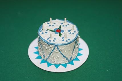Geburtstagstorte hellblau