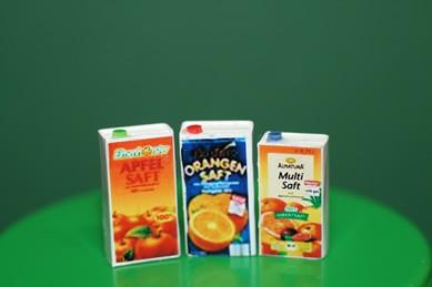 Tetrapack Multi-Saft, Orangen- und Apfelsaft, 1:12