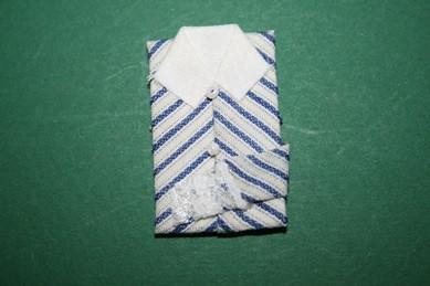 Damenbluse weiß/blau, 1:12