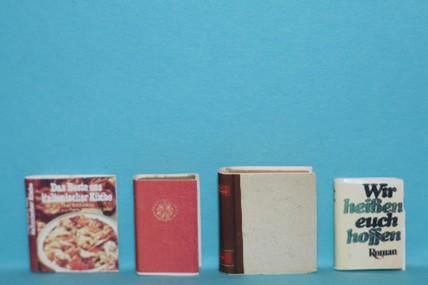 Bücher (4 Stück - u. a. Wir heißen Euch hoffen), 1:12