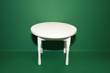 Tisch rund, weiß