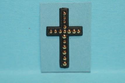Kreuz schwarz/goldfarben, 1:12