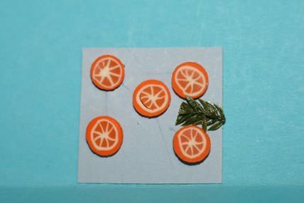 Orangenscheiben - 5 Stück, 1:12
