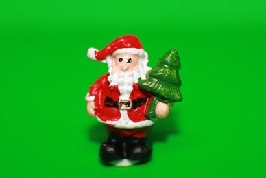 Weihnachtsmann mit Tannenbaum, Polyresin