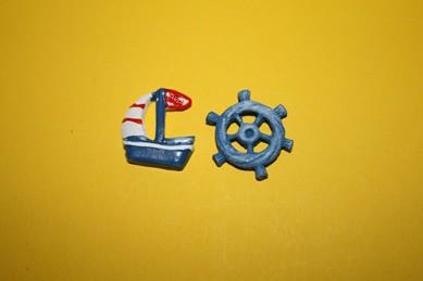 Boot und Steuerrad