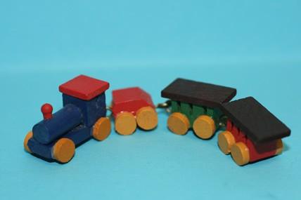 Mini-Zug, Holz bunt, 1:12