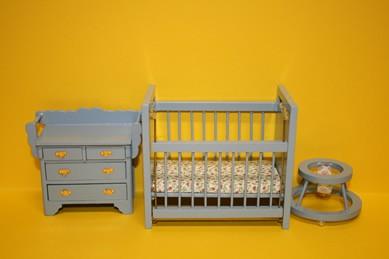 Kinderzimmer hellblau, 3-teilig