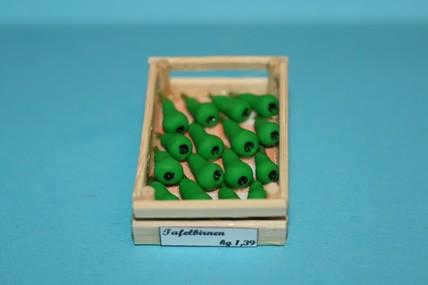 Obstkiste mit grünen Birnen, 1:12