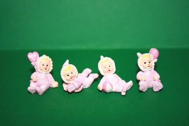 Baby-Puppen, Polyresin rosa