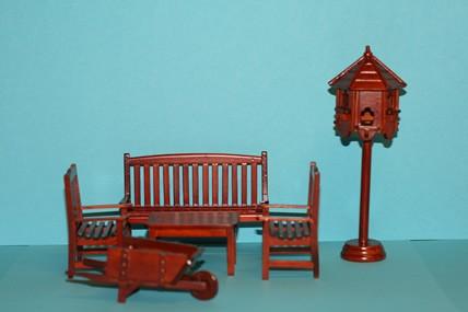 Gartenmöbel-Set, 6-teilig, 1:12