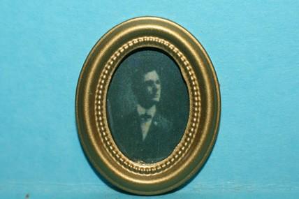 Miniatur-Bild oval, Mann