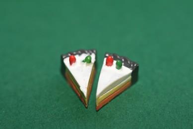 Mini-Tortenstückchen - jetzt 3 Stück, 1:12