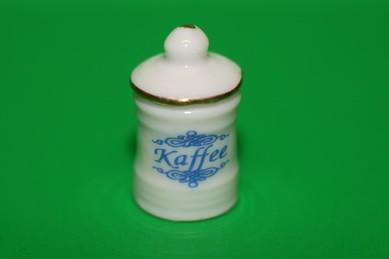 """Vorratsdose """"Coffee"""" mit Deckel, weiß/blau, Porzellan"""