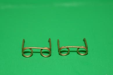 Brillen groß, Metall goldfarben - 2 Stück
