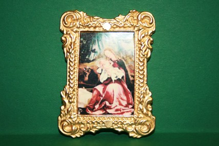 """Madonna mit Kind"" 1, Goldrahmen"