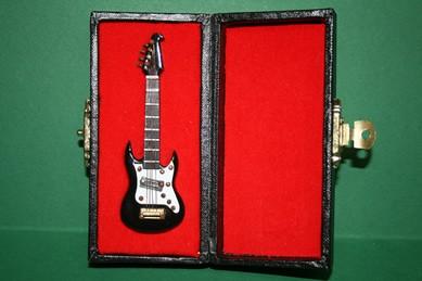 Gitarre schwarz, im Koffer