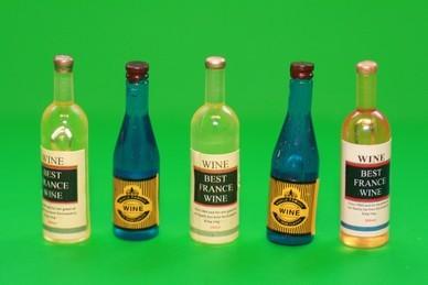 Weinflaschen gemischt - 5 Stück