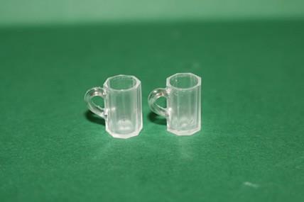 Bierkrug, Kunststoff - 2 Stück, 1:12