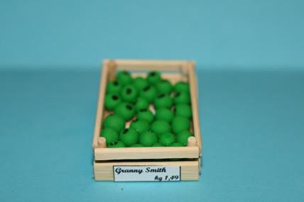 Obstkiste mit grünen Äpfeln, 1:12