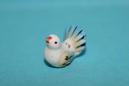 Taube weiß/blau, Keramik