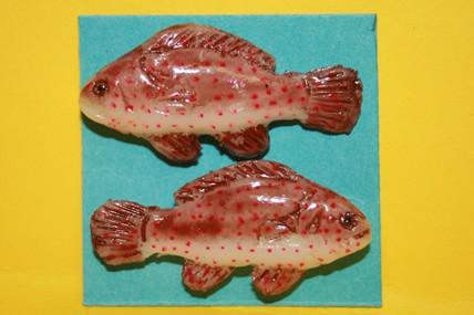 Fisch rotbraun - 2 Stück