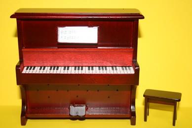 Klavier, Mahagoni rötlich, mit Klavierhocker