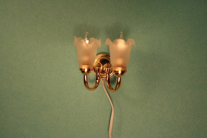 "Wandlampe ""Tulpe"" 2er, 1:12"