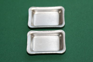 Blechschüssel viereckig - 2 Stück