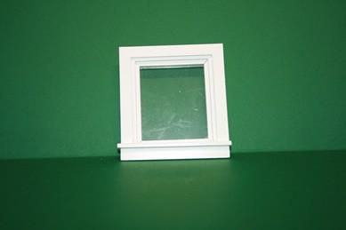 Fenster weiß, fest, Holz