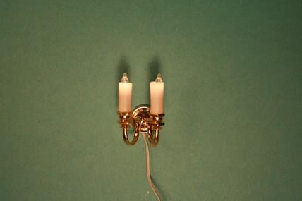 """Wandlampe """"Kerzen"""" 2er, 1:12, 12 Volt"""