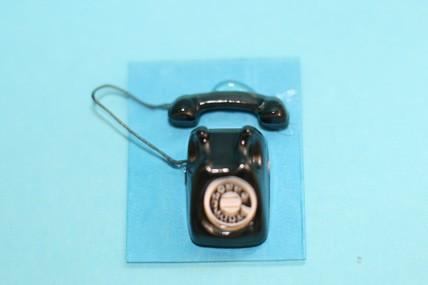 Telefon schwarz, Metall, 1:12
