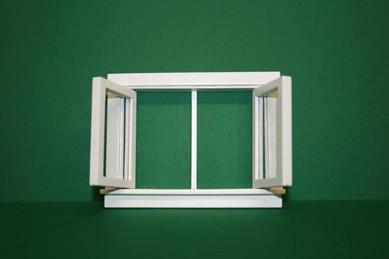 Drehfenster weiß, Holz