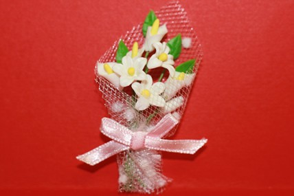 Blumen-Bouquet weiß, 1:12