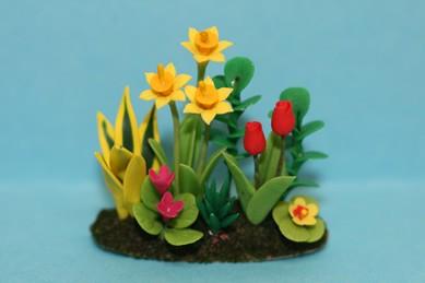 Blumenbeet - Narzissen, Tulpen...